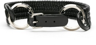 Nk Leather Woven Belt