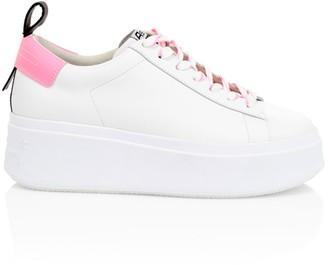 Ash Moon Leather Platform Sneakers