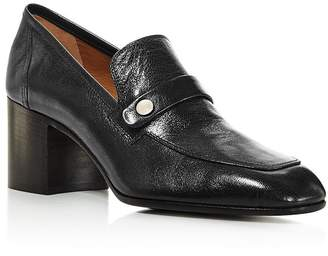 Laurence Dacade Women's Tracy Block Heel Leather Loafers