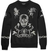 Alexander McQueen Embroidered Cotton-jersey Sweatshirt - Black