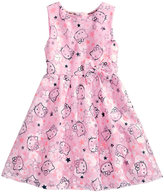 Hello Kitty Mesh Graphic-Print Dress, Little Girls (4-6X)