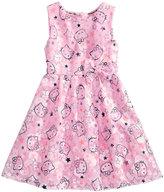 Hello Kitty Mesh Graphic-Print Dress, Little Girls