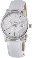Eterna Soleure Men's Dial White Leather Strap Swiss Automatic Watch 8310.41.17.1226