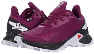 Salomon Alphacross Blast CSWP (Little Kid/Big Kid) (Plum Caspia/Black/Purple Heather) Kid's Shoes