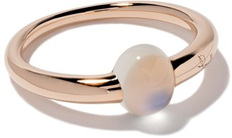 Pomellato 18kt rose & white gold M'ama non m'ama moonstone ring
