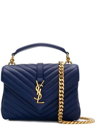 Saint Laurent College quilted tote