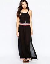 Liquorish Beach Maxi Dress With Mirror Embellishment