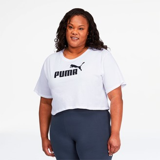 Puma Essentials+ Women's Cropped Logo Tee
