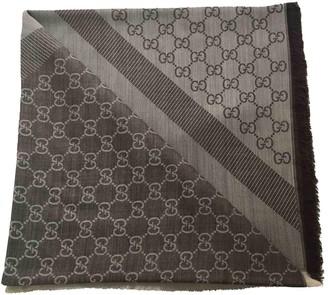 Gucci Grey Wool Scarves