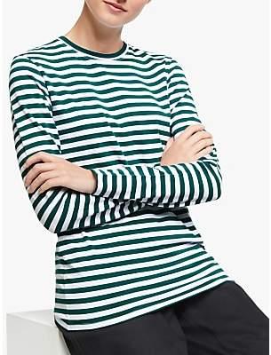 John Lewis & Partners Long Sleeve Cotton Stretch Breton T-Shirt