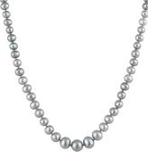 Bella Pearl Dark Gray Pearl Graduated Necklace