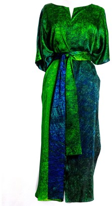 Carmen Molina Sea Lines Silk Wrap Kaftan