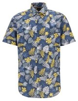 BOSS Cotton-canvas regular-fit shirt with tropical print