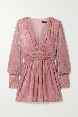 retrofete Dani Lurex Mini Dress - Pink