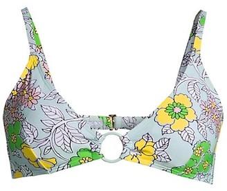 Tory Burch Printed Ring Bikini Top