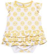 Magnolia Baby Baby Girl's Sunshine Flutter-Sleeve Bodysuit