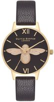 Olivia Burton **Midi 3D Bee Black & Gold Watch