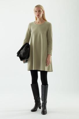 Cos Merino Wool-Cotton Mix A-Line Dress