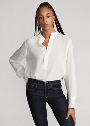 Ralph Lauren Silk Long-Sleeve Blouse