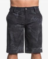 "Affliction Men's Black Diamond Slim-Fit Camouflage 12"" Boardshorts"