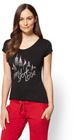 "New York & Co. ""New York Love"" & Skyline Graphic Logo Tee"