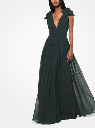 Michael Kors Washed Silk-Chiffon Gown