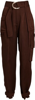 Shona Joy Marie Tapered Linen-Blend Cargo Pants