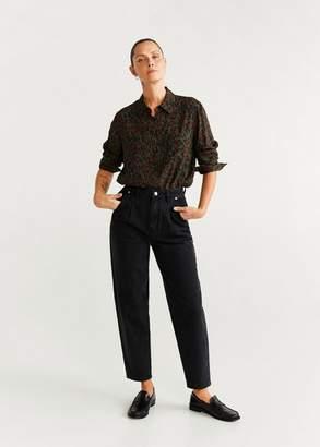 MANGO Leopard print shirt khaki - 2 - Women