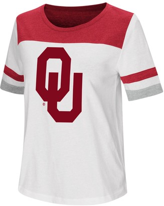 Colosseum Women's White Oklahoma Sooners Show Me the Money T-Shirt