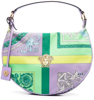 Versace Baroque-Print Hobo Bag