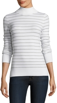 French Connection Women's Turtleneck Striped Sweater