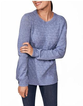 Blue Illusion Stitch Detail Knit
