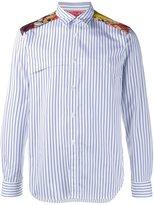 Comme des Garcons floral yoke striped shirt