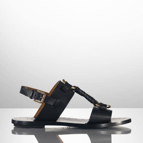 Ralph Lauren Maryann Calf Flat Sandal