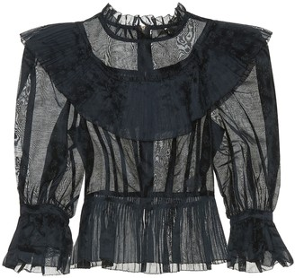 Ulla Johnson Edna cotton and silk organza blouse