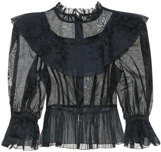Ulla Johnson Edna cotton and silk organza blouse