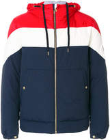 Moncler Gamme Bleu hooded bomber coat