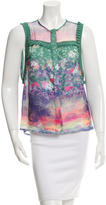 Timo Weiland Floral Print Sleeveless Top w/ Tags