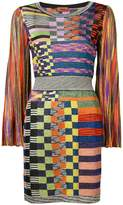 Missoni slim-fit checked glitter dress