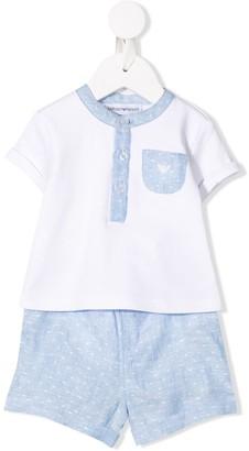 Emporio Armani Kids T-shirt babygrow and shorts set