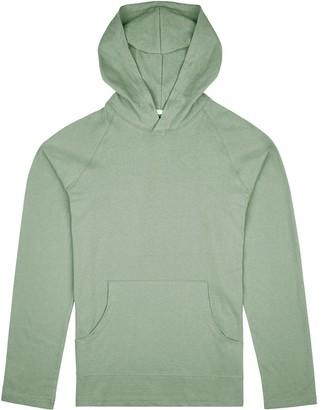 Fraser Birt Long-Sleeve Hooded T-Shirt Cyan