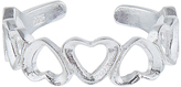 Accessorize Sterling Silver Hearts Toe Ring