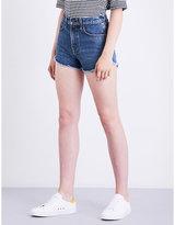 Rag & Bone Lou frayed-hem denim shorts