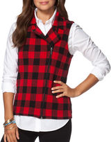 Chaps Petite Buffalo Check Sweater Vest