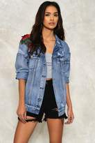 Nasty Gal Harper Embroidered Denim Jacket