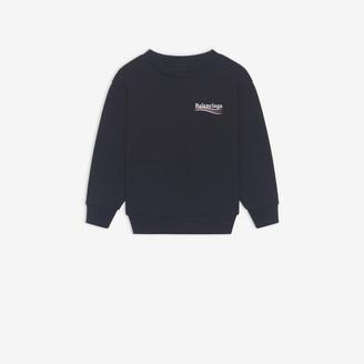 Balenciaga Kids - Political Campaign Logo Crewneck Sweater