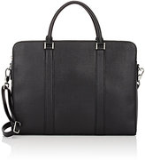 Barneys New York MEN'S THREE-COMPARTMENT BRIEFCASE-BLACK