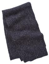 Todd Snyder Ribbed Knit Scarf in Navy