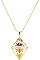 Noir Geometric Outline Pendant Necklace