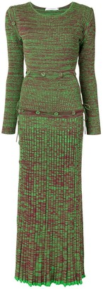 CHRISTOPHER ESBER Ribbed Knit Dress